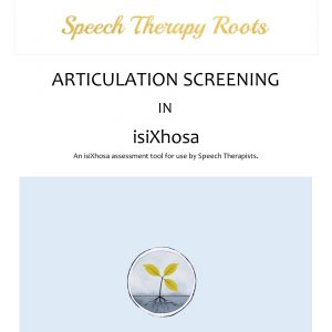 Xhosa Articulation Screening Tool